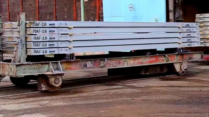 Перевозка плит аэродромных ПАГ-18 железнодорожным транспортом